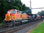 BNSF 5492, NS 8033, 8105 on CSX K040 crude oil train